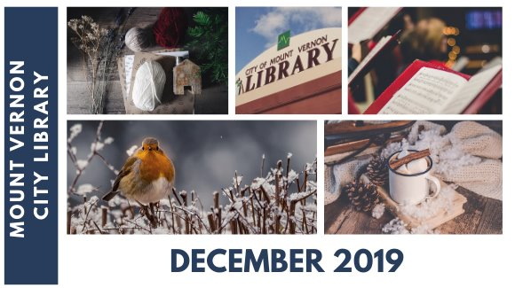 December Events at Mount Vernon City Library