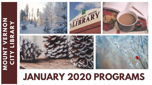 January Events at Mount Vernon City Library