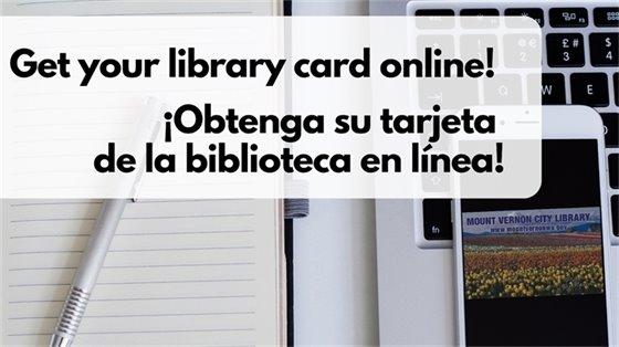 Tarjetas de la biblioteca digitales
