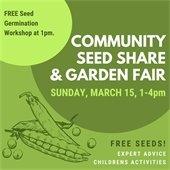 Community Seed Share & Garden Fair