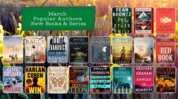 March Popular Authors New Books and Series