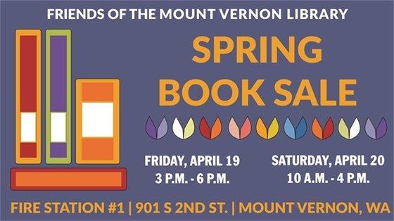 Spring Book Sale Friday April 19 & Saturday April 20