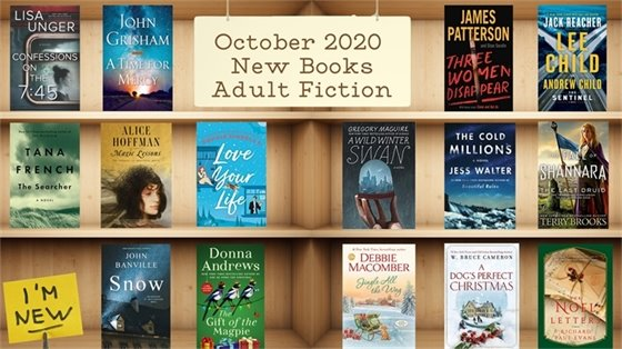 October 2020 New Books Adult Fiction