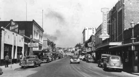 Currend day 1st Street looking north ~1940s